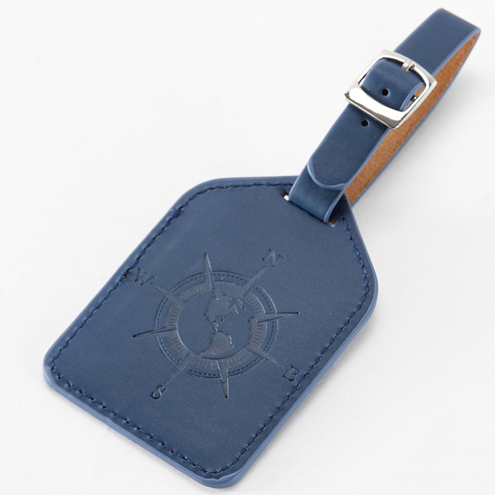 Practical Carrying Vintage Style Fashion Wear Resistant Travel Label Bag Lightweight Adjustable Buckle PU Leather Luggage Tag