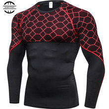 New Quick Dry Running T Shirt Men Fitness Tight Sport Shirt Men Gym Clothing Bodybuilding Rashgard Men'S T Shirt For Sporting new quick dry running shirt men bodybuilding sport t shirt long sleeve compression top gym t shirt men fitness tight rashgard