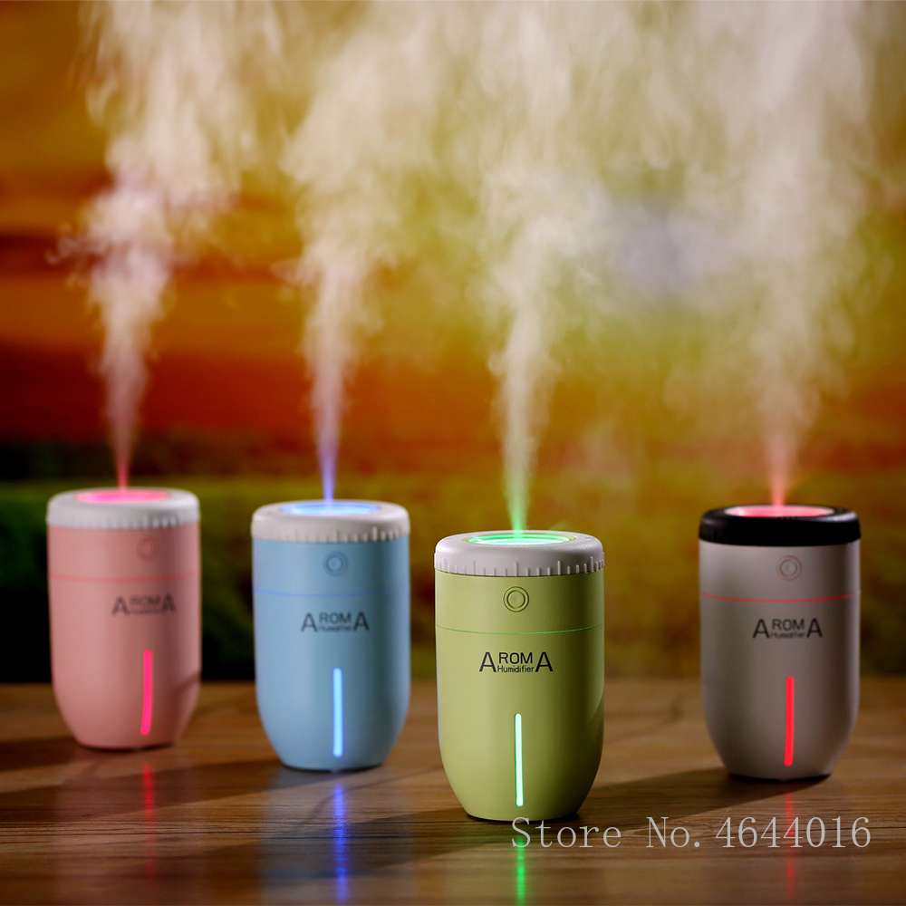 100ML Aroma Wax Of 4 Fragrance Diffuser Colorful Backlight Function Air Humidifier Ultrasonic Mist Maker Of Dry Burning Protection