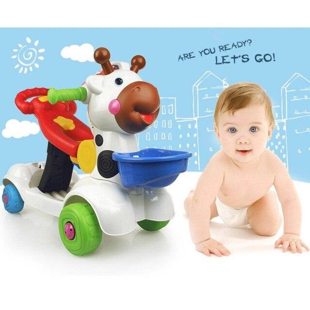 3 стиль для 1-3years младенца ходок Многофункциональный раннее образование обучение ходьбе толкать автомобиль игрушки подарок для детей