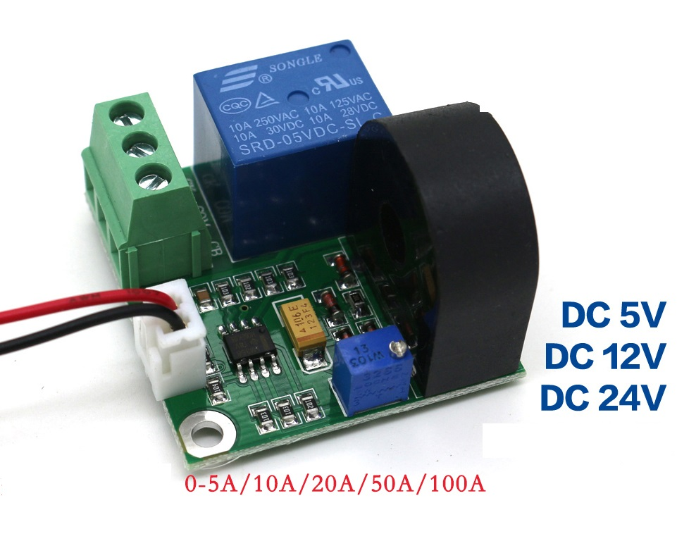 50A AC Current Sensor Module Detection Module Switch Output Working DC5V