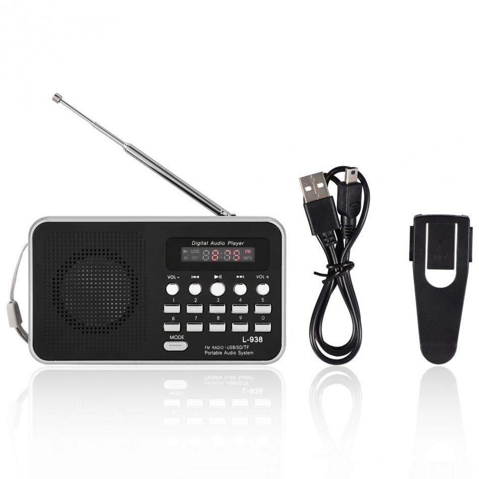 Vbestlife Mini Tragbare Radio Digital Audio Player Hifi Musik Lautsprecher Fm Radio Tf Sd Karte Usb Aux W/lcd Display Outdoor-player Unterhaltungselektronik Tragbares Audio & Video