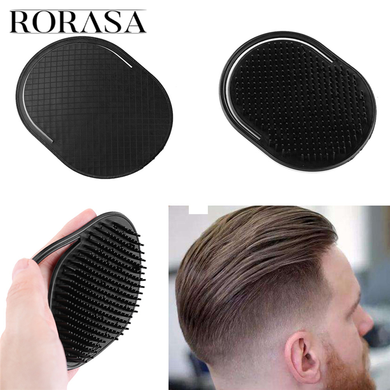 Portable Pocket Hair Comb Set Of Fingers Small Round Hair Brush Shampoo Brush Scalp Massage Black Comb Fashion Styling Tool Man