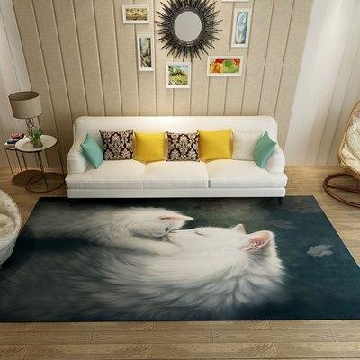 Tapis de zone d'animal de bande dessinée de 100*300 cm pour des tapis et des tapis de chambre d'enfants de salon