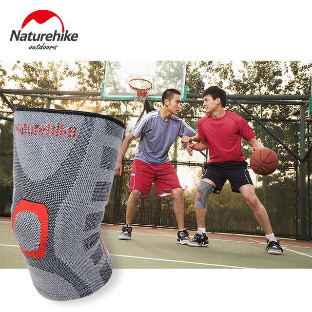 NatureHike Elastic Knee Support Adjust Bamboo Charcoal Knee Pads Brace Kneepad Volleyball Basketball Safety Guard Strap M L XL