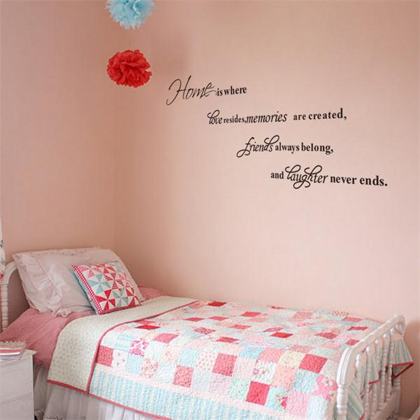 zy decorative words home is love memory friends laughter quote