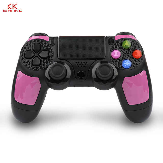 For Sony PS4 Bluetooth Wireless Gamepad Joystick for Sony Playstation 4/PS3 Pro Slim with 3.5mm Headset Plug Accessories Pink