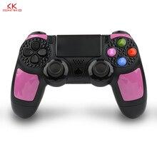 Pour Sony PS4 Bluetooth manette de jeu sans fil pour Sony Playstation 4/PS3 Pro mince avec 3.5mm casque Plug accessoires rose