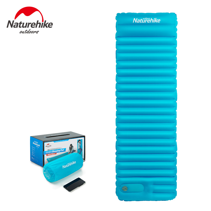 Naturehike New Ultralight Outdoor Air Mattress Inflatable Camp Bed Tent Camping Mat Manually Sleeping Pad brand new air mattress inflatable downy sleeping bed camping durable flocked pvc camping mat for outdoor sports