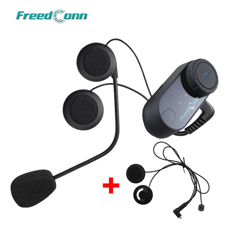 Updated Version Motorcycle BT Bluetooth Multi Interphone Headset Helmet Intercom with FM Radio Extra Soft Earpiece