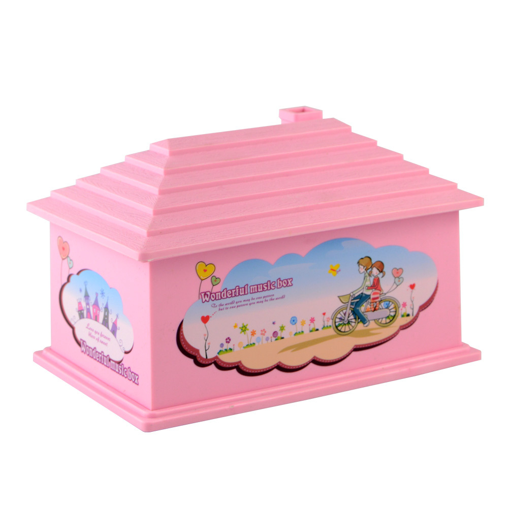 Lovely Hand Crank Music Box Gift Bo Jewelry Kids Crystal Swan Musical Children S Birthday Christmas Present In From Home