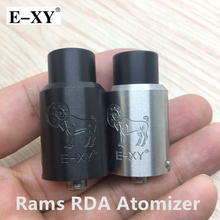 E-XY Rams RDA Atomizer Vaporizer Adjustable Airflow Improved Velocity-style Deck Rebuildable Tank For 510 Electronic Cigarettes