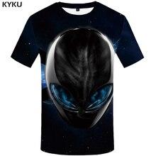 3d Tshirt Alien T-shirt Men Galaxy Space Anime Clothes Metal Printed Black T-shirts Shirt Print Mens Clothing