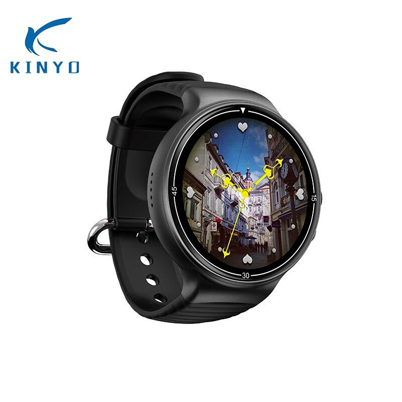 KINYO New 4G Bluetooth Smartwatch Heart Rate 1GB RAM 16GB ROM with HD Camera GPS WIFI nona sim card music video weather PK KW88 недорго, оригинальная цена