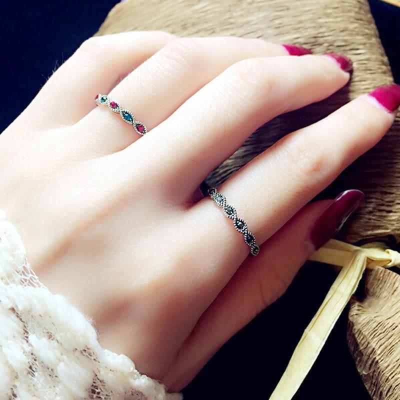 Mode Högkvalitativa Vintage Smycken Antika Silverfärg Svart - Märkessmycken - Foto 3