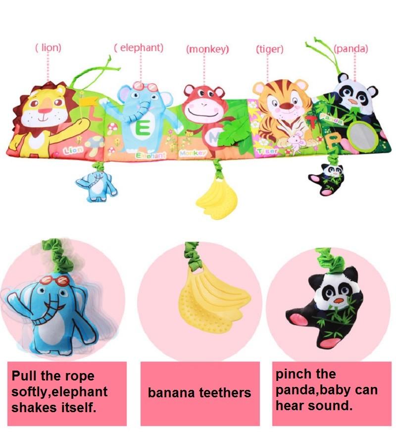 Infant Activity Book Cartoon Animal Soft Baby Educational Toy Cloth Book Plush Animal Story Intelligence Developing Toy KF030 4