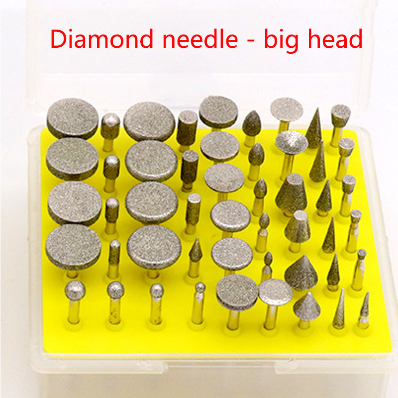 30 Pcs Diamond Grinding Needle Point Burr Bits Drill Head Accessories Tip Grinding Alloy Cylindrical Ball 2.35mm 3.0mm S