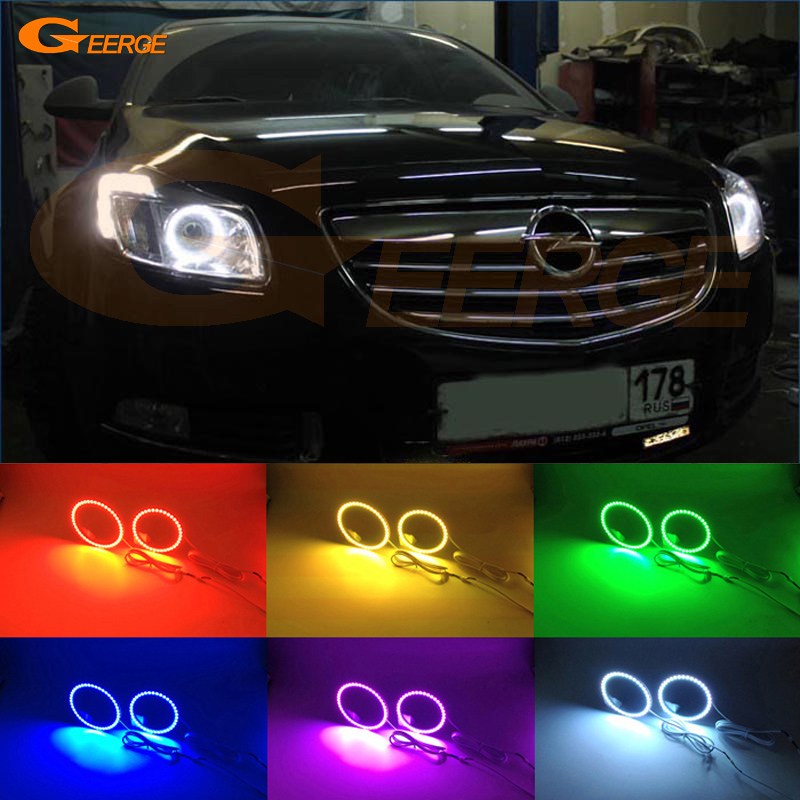 For Opel Insignia 2008 2009 2010 2011 2012 2013 Excellent Multi-Color Ultra bright RGB LED Angel Eyes kit for lifan 620 solano 2008 2009 2010 2012 2013 2014 excellent angel eyes multi color ultra bright rgb led angel eyes kit