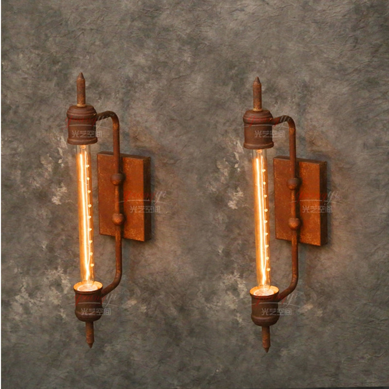 Industrial Pipe Wall Light: Wall Light Rh Loft Fashion Vintage Industrial Steam Iron
