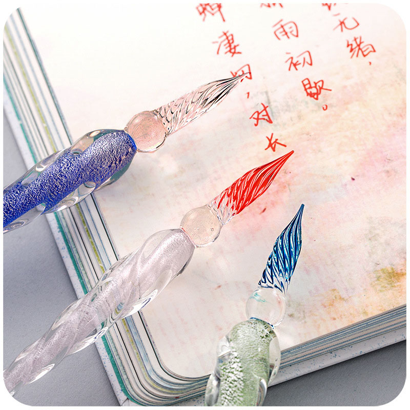 Novely Elegant Fountain Pen Colored Cute Pens Transparent Fountain Pen For Writing Gift School Office Supplies