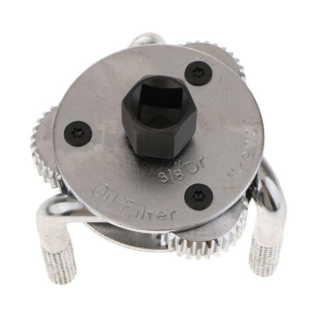 Clé de filtre à huile | Outil de voiture, 3 mâchoires 2 voies, clé de filtre à huile, dissolvant de clé réglable