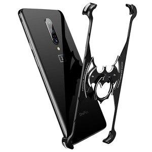 Image 2 - OATSBASF OnePlus 7 7pro pokrowiec na telefon komórkowy połówkowe metalowe ramki osobowość Batman Cover ultra cienka, wszechstronna, twarda obudowa