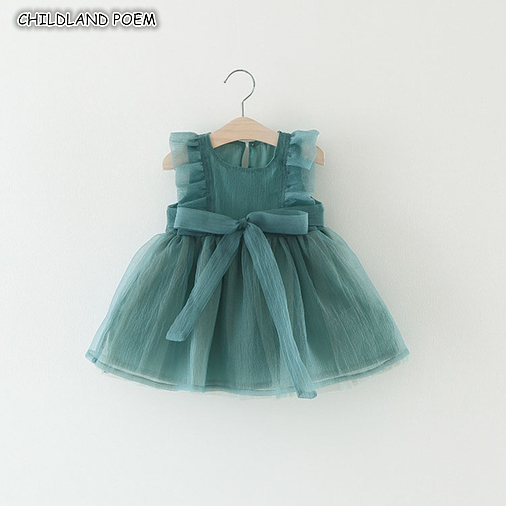 Newborn Baby Dress Summer 1st First 1 Year Birthday Party Baptism Dresses Princess Ruffle Infant Baby Girl Dress Baby Clothes