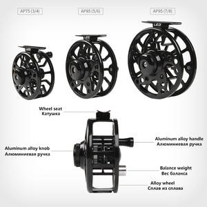Image 2 - Aluminium Fly Fishing Reel 3/4 5/6 7/8 WT High Quality Left & Right Hand Changed Fishing Wheel CNC Large Arbor Fishing Reel Fly