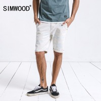 SIMWOOD 2019 Summer Denim Shorts Men Fashion Brand Clothing Casual Cotton Knee Length Short Jeans Plus Size 180224