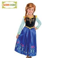 2016 Fever Girl Clothes Elsa Winter Dress Snow Queen Princess Anna Dres Kids Party Dresses Girl
