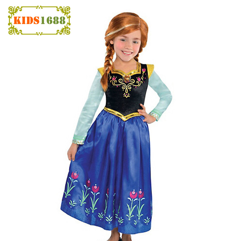 Anna Elsa Girl Kids Clothes Dress Snow Queen Princess Anna Kids Girl Dresses Girl Autumn Anna Elsa Kids Clothes Dress For Girl 13pcs set snow queen elsa anna princess dress girl toys play house dress up kids toys action figures for new year gift s50