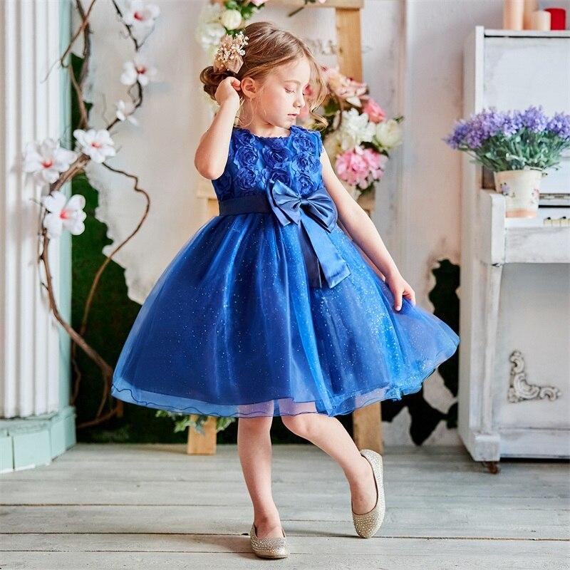 Flower Girl Dress Summer Tutu Wedding Birthday Party Kids Dresses For Girls Children's Clothing Teenage Girl 8 10 12 Years Gown
