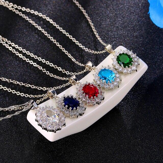 Conjuntos de joyas para novias, juego de collar de Color plateado con piedra de cristal azul a la moda, conjuntos de joyería africana 6