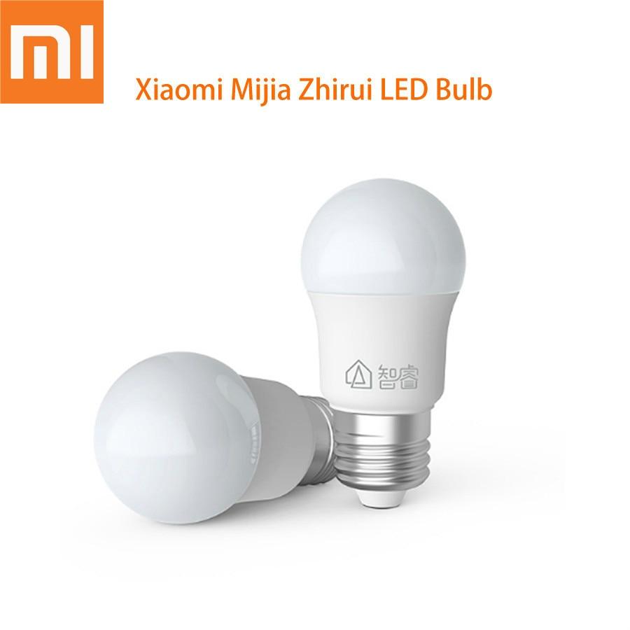 Original Xiaomi Mijia Zhirui LED Bulb E27 White Light 5W 6500K Energy Saving For Table Floor Lamp Short Circuit Protection