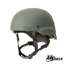 AA Shield Ballistic MICH Tactical Teijin Middle Cut Helmet Color OD Bulletproof Aramid Safety NIJ Level IIIA  Military Army