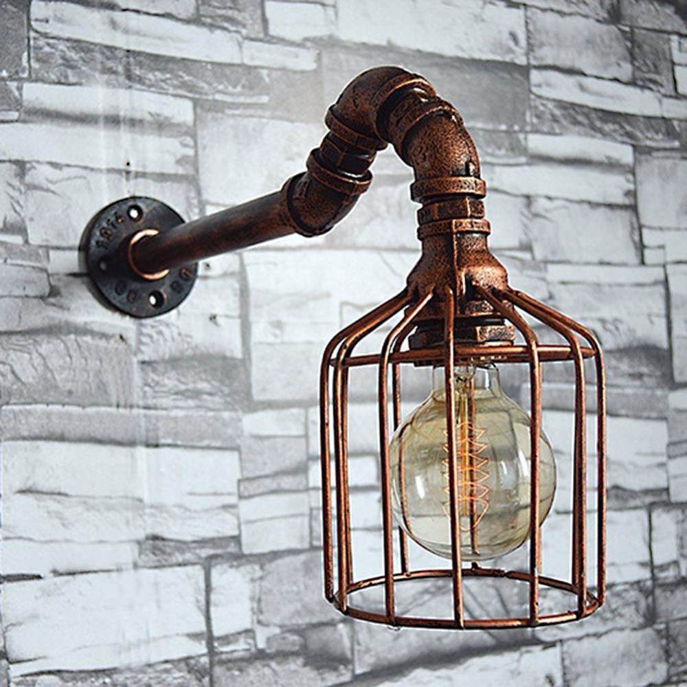 Lamp Light Loft Style Creative Water Pipe Industrial Vintage Wall Light Fixtures Edison Wall Sconce For Home and Indoor Lighting