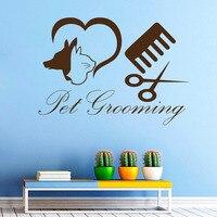 Pet Grooming Animal Salon Wall Decal Sticker Pets Shop Decoration Vinyl Wall Art Mural Children Rooms