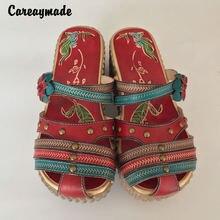 Женские повседневные босоножки careaymade резная обувь ручной
