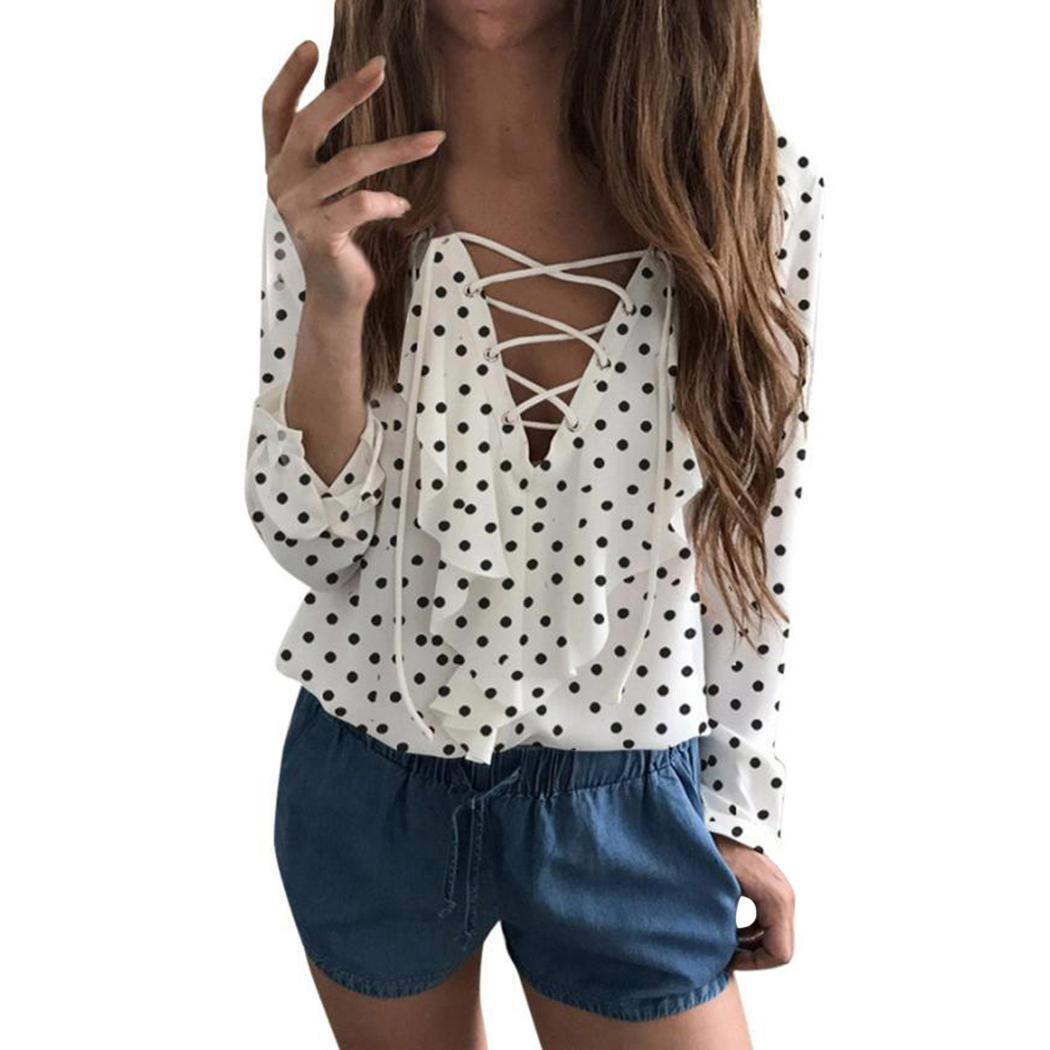 Fashion Elegant Women Chiffon Blouses Office Ruffles Shirts Lady Long Sleeve Shirt Blusas High Quality Plus Size Casual Tops Q4