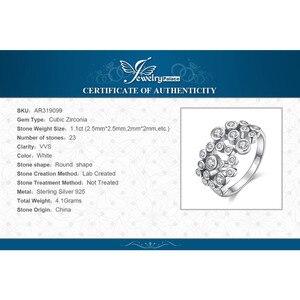 Image 5 - Jewelrypalace 巨大なキュービックジルコニアリング 925 スターリングシルバーリング女性用スタッカブルリングシルバー 925 ジュエリーファインジュエリー