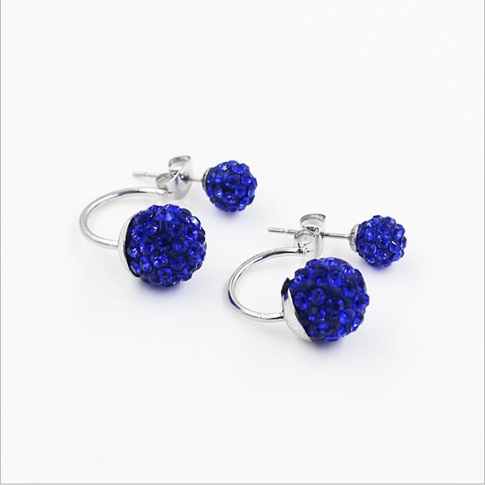 Gratis frakt 16 Färg Double Side Earring Fashion Brand Smycken Alloy - Märkessmycken - Foto 6