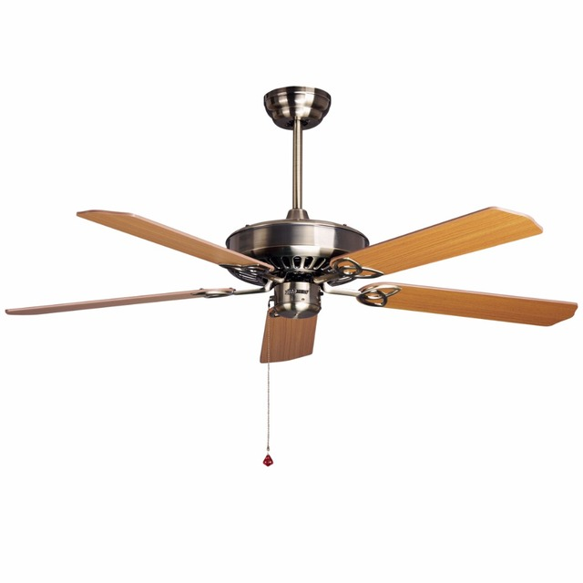 wood ceiling fan 52inch 5 leaf without light and 2 size