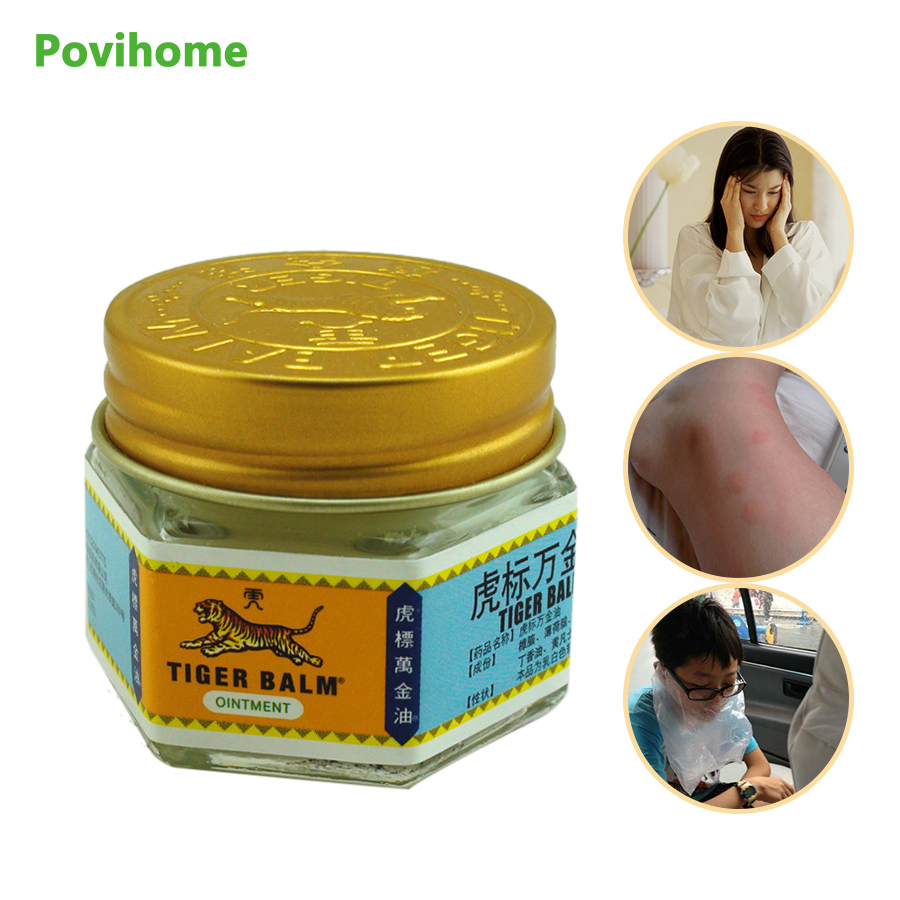 1pcs 100% Original Red/white Tiger Balm Ointment Thailand Painkiller Ointment Muscle Pain Relief Ointment Soothe itch C102,C105 1 bottle green herb balm thailand healthy anti mosquito bite skin care headache pain relief medcine l3