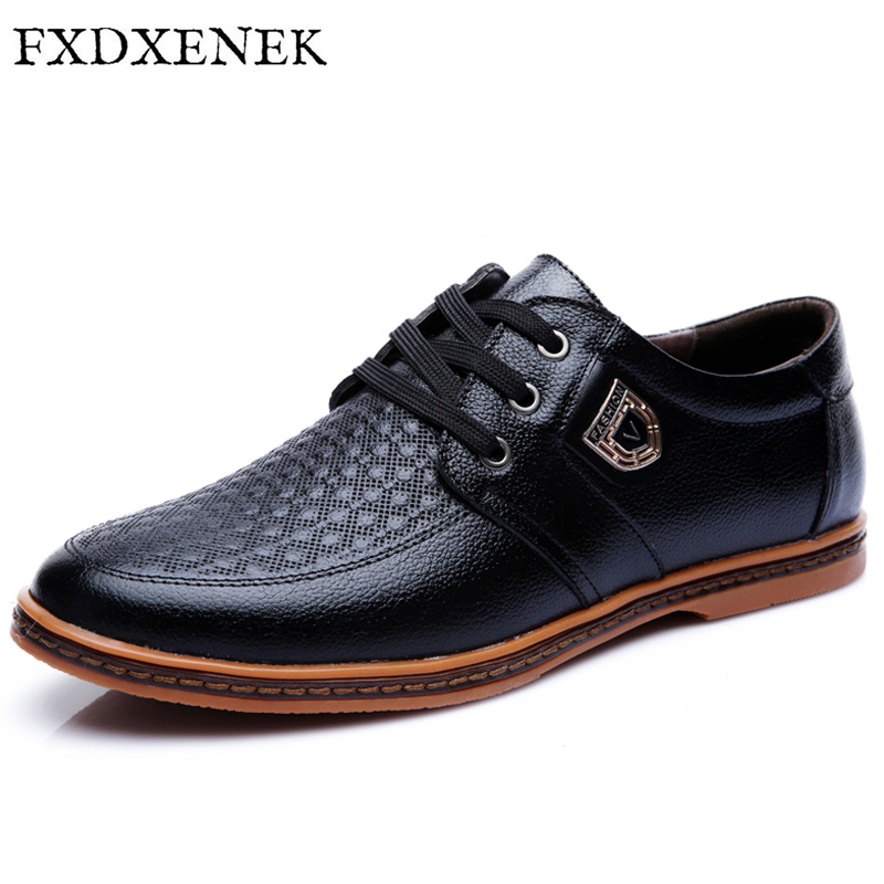 FXDXENEK Handmade Leather Shoes Lace up Black Brown Men Flats High Quality Oxfords Chaussure Homme British Leather Men Shoes high quality genuine leather men shoes lace up casual shoes handmade driving shoes flats loafers for men oxfords shoes