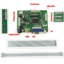 Universal HDMI VGA 2AV 50 Pins TTL LVDS Controller Board Modul für Raspberry PI 800×480 LCD AT070TN92 94 90 Panel freeship