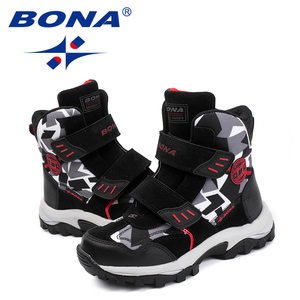Image 5 - BONA New Popular Style Children Boots Hook & Loop Boys Winter Shoes Round Toe Girls Ankle Boots Comfortable Fast Free Shipping