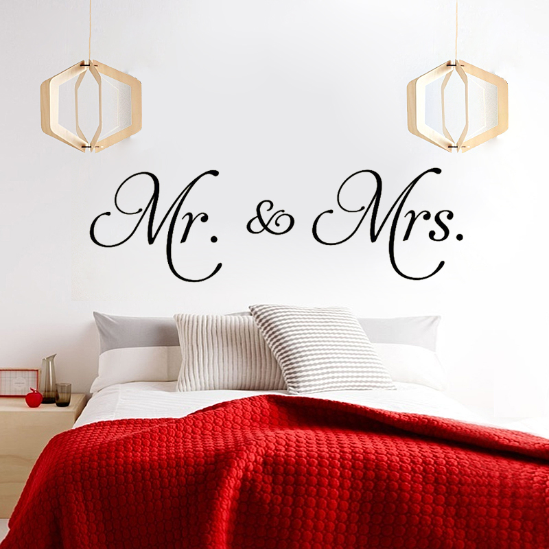 Online Shop ZN X022 Mr And Mrs Vinyl Wall Decal Home Decor Couple Wall  Stickers For Bedroom Decorate Removable Stickers | Aliexpress Mobile