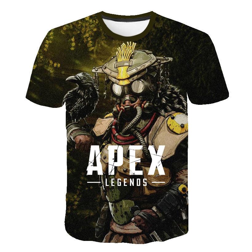 Newest 3D Apex Legends T Shirts Men/Women Summer Cool Short Sleeve T-shirt Boy/Girls TShirt Apex Legends Breathable Hero Clothes