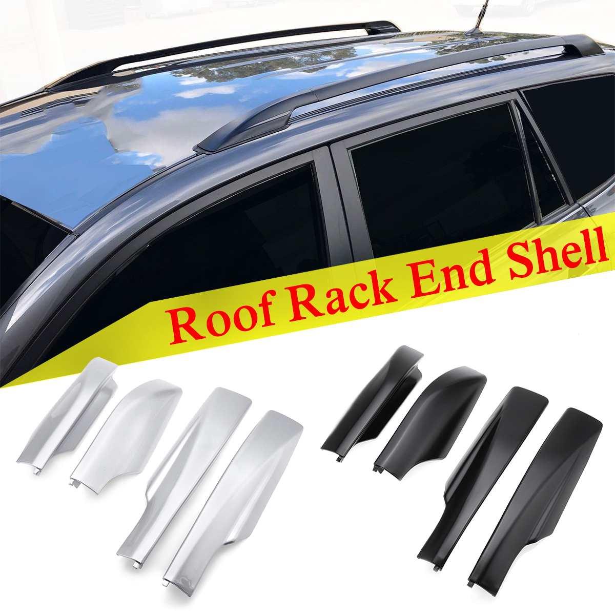 4 unids/set negro plata ABS cubierta de la cubierta del extremo del riel cubierta protectora para TOYOTA RAV4 2007 2008 2009 2010 2011 2012 Modelo a escala de 5 uds material de construcción techos de láminas de PVC en tamaño 210x300mm para diseño de la arquitectura
