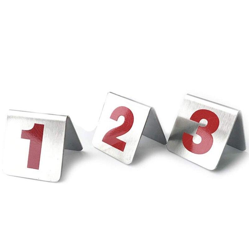 10 шт металлический крепеж для тента Стиль Штабелируемые настольные номера, место карты подходит для ресторанов кафе баров и личных посиделок.(Оцепенелый